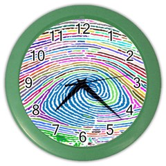 Prismatic Fingerprint Color Wall Clocks by Nexatart