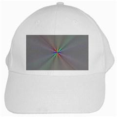 Square Rainbow White Cap by Nexatart