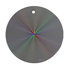 Square Rainbow Round Ornament (two Sides) by Nexatart