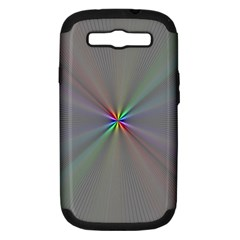 Square Rainbow Samsung Galaxy S Iii Hardshell Case (pc+silicone) by Nexatart