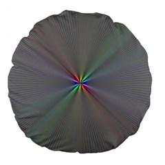Square Rainbow Large 18  Premium Round Cushions by Nexatart