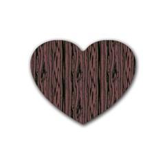 Grain Woody Texture Seamless Pattern Rubber Coaster (heart)  by Nexatart