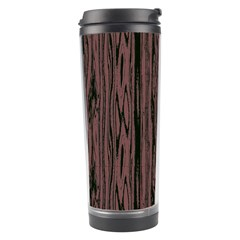 Grain Woody Texture Seamless Pattern Travel Tumbler by Nexatart