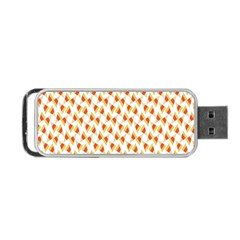Candy Corn Seamless Pattern Portable Usb Flash (two Sides) by Nexatart
