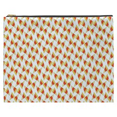 Candy Corn Seamless Pattern Cosmetic Bag (xxxl)  by Nexatart