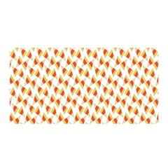 Candy Corn Seamless Pattern Satin Wrap by Nexatart