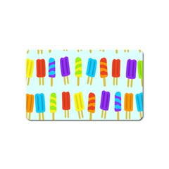 Popsicle Pattern Magnet (name Card) by Nexatart
