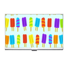 Popsicle Pattern Business Card Holders by Nexatart
