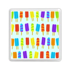 Popsicle Pattern Memory Card Reader (square)  by Nexatart
