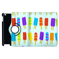 Popsicle Pattern Apple Ipad 2 Flip 360 Case by Nexatart