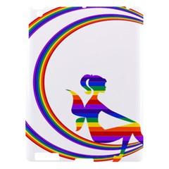 Rainbow Fairy Relaxing On The Rainbow Crescent Moon Apple Ipad 3/4 Hardshell Case by Nexatart