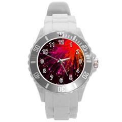 Big Bang Round Plastic Sport Watch (l) by ValentinaDesign
