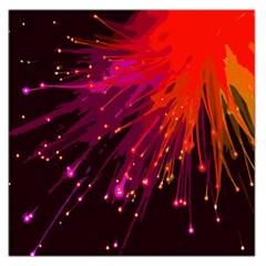 Big Bang Large Satin Scarf (square) by ValentinaDesign