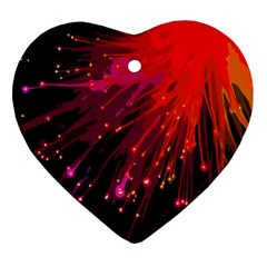 Big Bang Heart Ornament (two Sides) by ValentinaDesign
