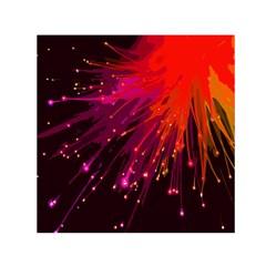 Big Bang Small Satin Scarf (square) by ValentinaDesign