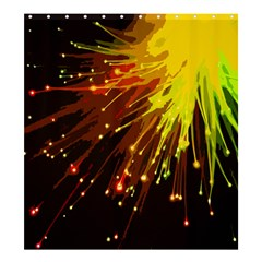 Big Bang Shower Curtain 66  X 72  (large)  by ValentinaDesign