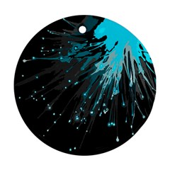 Big Bang Round Ornament (two Sides) by ValentinaDesign