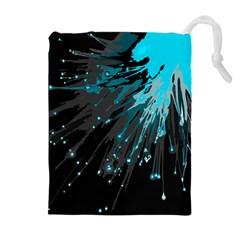 Big Bang Drawstring Pouches (extra Large) by ValentinaDesign