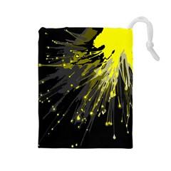 Big Bang Drawstring Pouches (large)  by ValentinaDesign