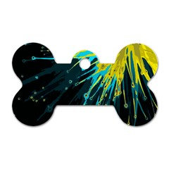 Big Bang Dog Tag Bone (one Side) by ValentinaDesign