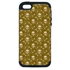 Skull Pattern 1 Apple Iphone 5 Hardshell Case (pc+silicone) by tarastyle