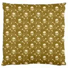 Skull Pattern 1 Large Flano Cushion Case (one Side) by tarastyle