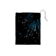 Big Bang Drawstring Pouches (small)  by ValentinaDesign