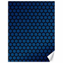 Blue Dark Navy Cobalt Royal Tardis Honeycomb Hexagon Canvas 18  X 24   by Mariart