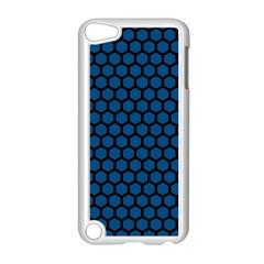 Blue Dark Navy Cobalt Royal Tardis Honeycomb Hexagon Apple Ipod Touch 5 Case (white) by Mariart