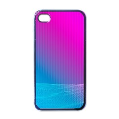With Wireframe Terrain Modeling Fabric Wave Chevron Waves Pink Blue Apple Iphone 4 Case (black) by Mariart