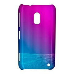 With Wireframe Terrain Modeling Fabric Wave Chevron Waves Pink Blue Nokia Lumia 620 by Mariart