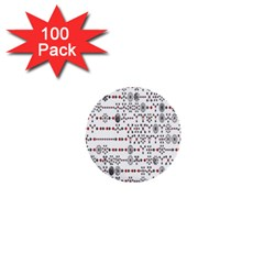 Bioplex Maps Molecular Chemistry Of Mathematical Physics Small Army Circle 1  Mini Buttons (100 Pack)  by Mariart