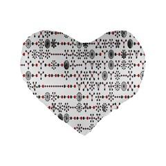 Bioplex Maps Molecular Chemistry Of Mathematical Physics Small Army Circle Standard 16  Premium Flano Heart Shape Cushions by Mariart