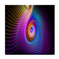 Abstract Fractal Bright Hole Wave Chevron Gold Purple Blue Green Face Towel by Mariart