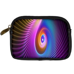 Abstract Fractal Bright Hole Wave Chevron Gold Purple Blue Green Digital Camera Cases by Mariart