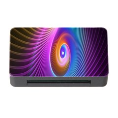 Abstract Fractal Bright Hole Wave Chevron Gold Purple Blue Green Memory Card Reader With Cf by Mariart