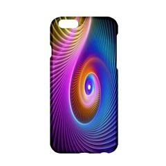 Abstract Fractal Bright Hole Wave Chevron Gold Purple Blue Green Apple Iphone 6/6s Hardshell Case by Mariart