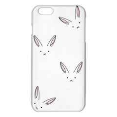 Bunny Line Rabbit Face Animals White Pink Iphone 6 Plus/6s Plus Tpu Case by Mariart