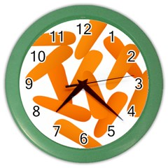 Carrot Vegetables Orange Color Wall Clocks by Mariart