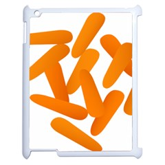 Carrot Vegetables Orange Apple Ipad 2 Case (white) by Mariart