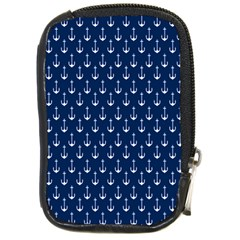 Blue White Anchor Compact Camera Cases by Mariart