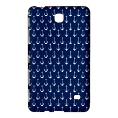 Blue White Anchor Samsung Galaxy Tab 4 (7 ) Hardshell Case  by Mariart