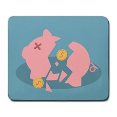 Coins Pink Coins Piggy Bank Dollars Money Tubes Large Mousepads by Mariart