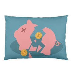 Coins Pink Coins Piggy Bank Dollars Money Tubes Pillow Case (two Sides) by Mariart