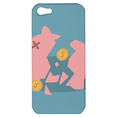 Coins Pink Coins Piggy Bank Dollars Money Tubes Apple Iphone 5 Hardshell Case by Mariart