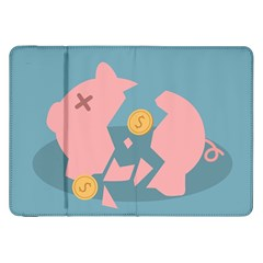 Coins Pink Coins Piggy Bank Dollars Money Tubes Samsung Galaxy Tab 8 9  P7300 Flip Case by Mariart