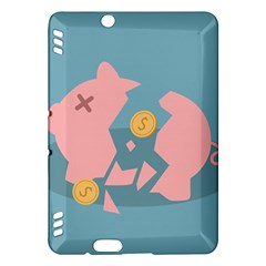 Coins Pink Coins Piggy Bank Dollars Money Tubes Kindle Fire Hdx Hardshell Case by Mariart