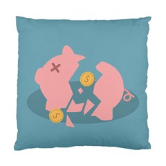 Coins Pink Coins Piggy Bank Dollars Money Tubes Standard Cushion Case (two Sides) by Mariart