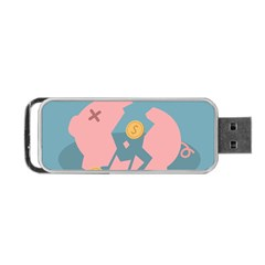 Coins Pink Coins Piggy Bank Dollars Money Tubes Portable Usb Flash (two Sides) by Mariart
