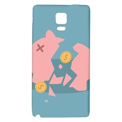 Coins Pink Coins Piggy Bank Dollars Money Tubes Galaxy Note 4 Back Case by Mariart